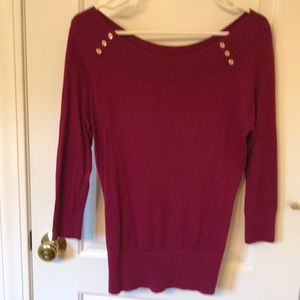 New York and Company magenta sweater